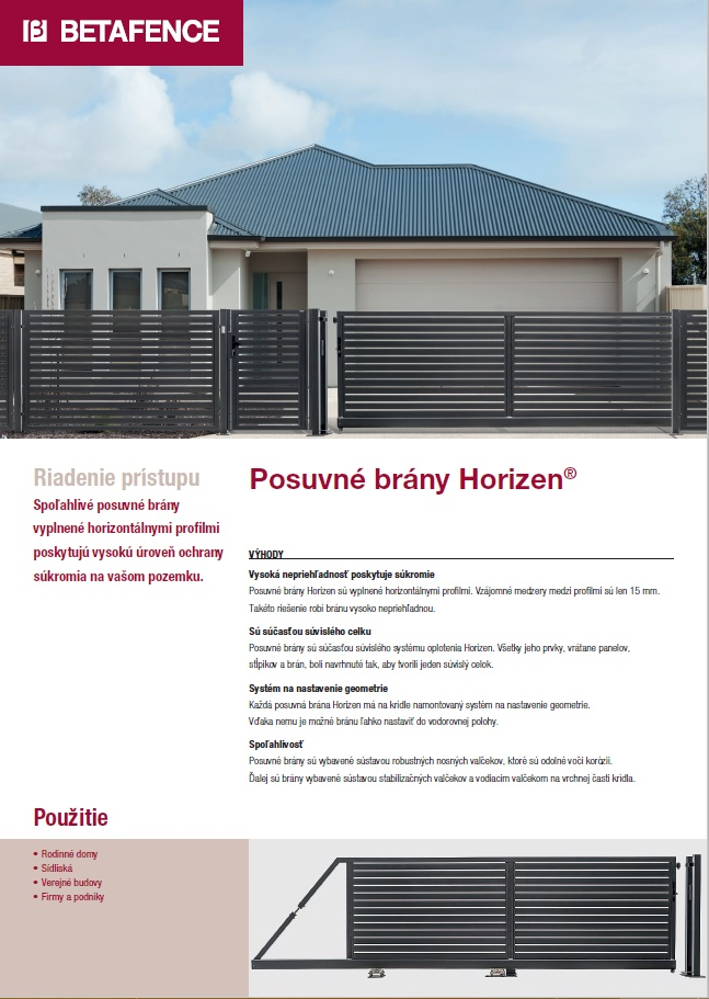 Produktový katalóg Horizen